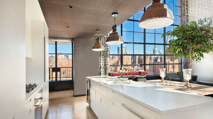 Kitchen Island, 456 West 19th Street, Condo, Manhattan