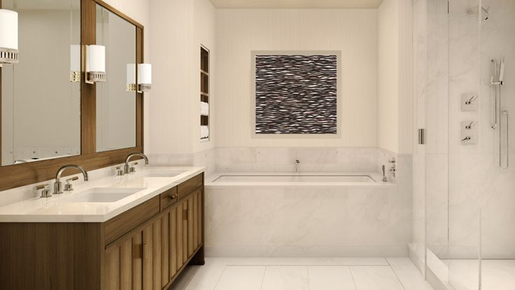 Bathroom, 150 Charles Street, Condo, Manhattan, NYC