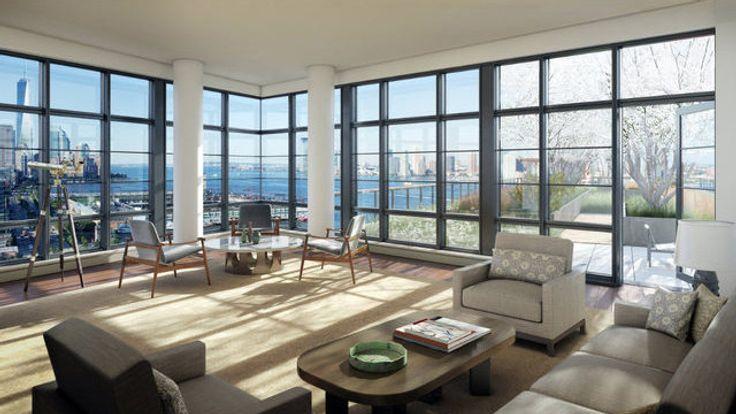 Living Room, 150 Charles Street, Condo, Manhattan, NYC