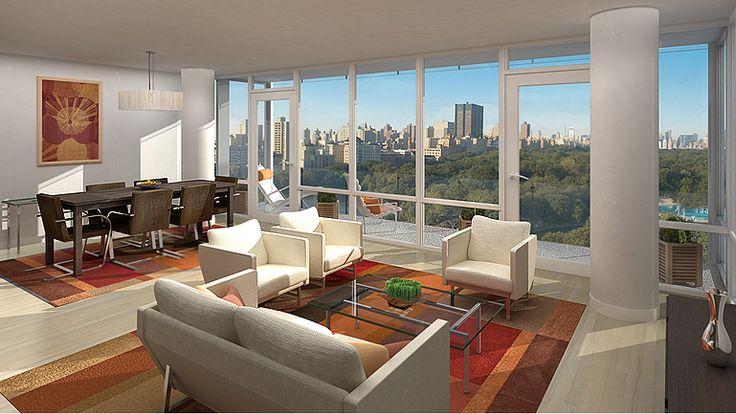 Living Room, 111 Central Park North, Condo, Manhattan, NYC