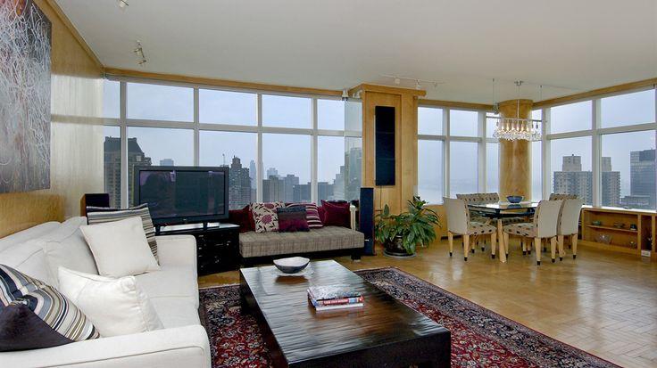 Living Room, 3 Lincoln Center, Condo, Manhattan, NYC