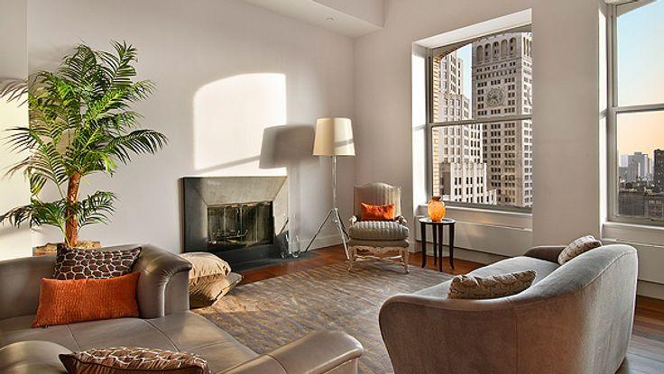 Living Room, 15 Madison Square North, Condo, Manhattan, NYC