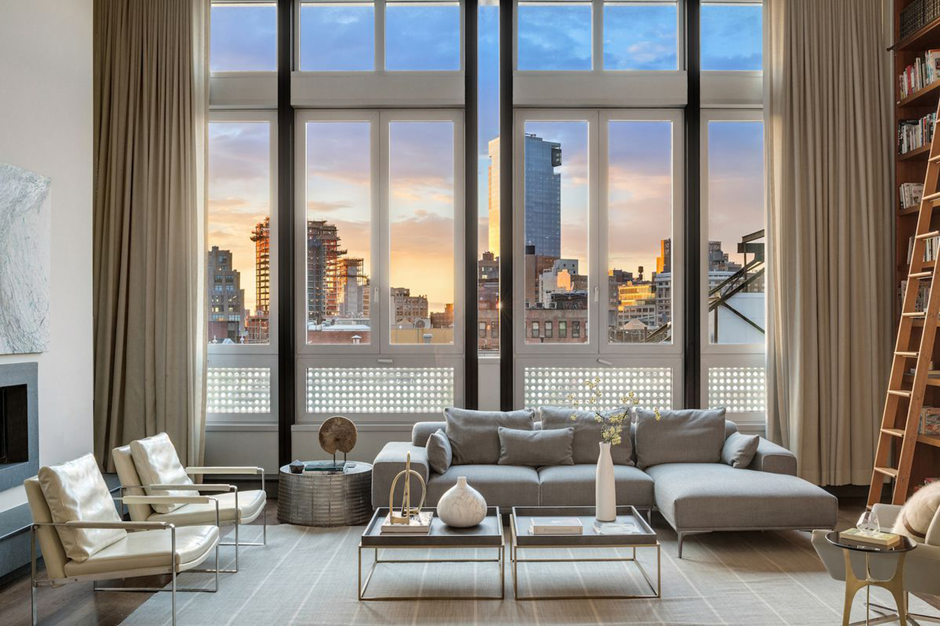 New York Penthouse Luxury Master Bedrooms