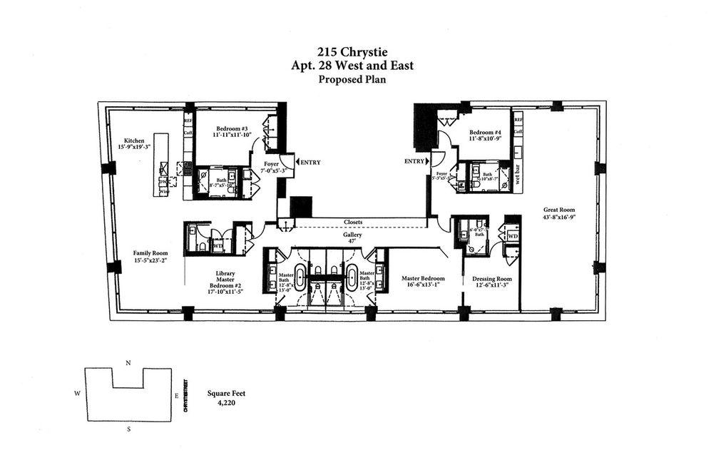 215 Chrystie Street #28WE floor plan