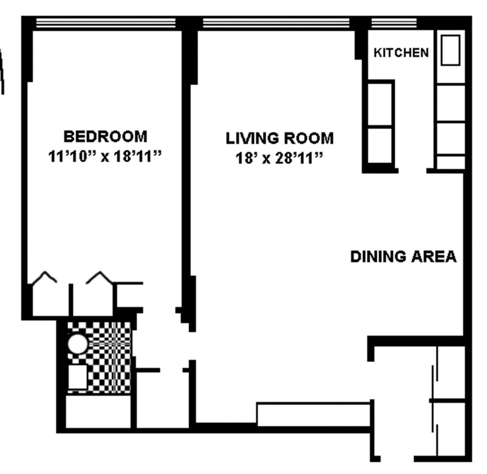 420 East 51st Street #8B floor plan