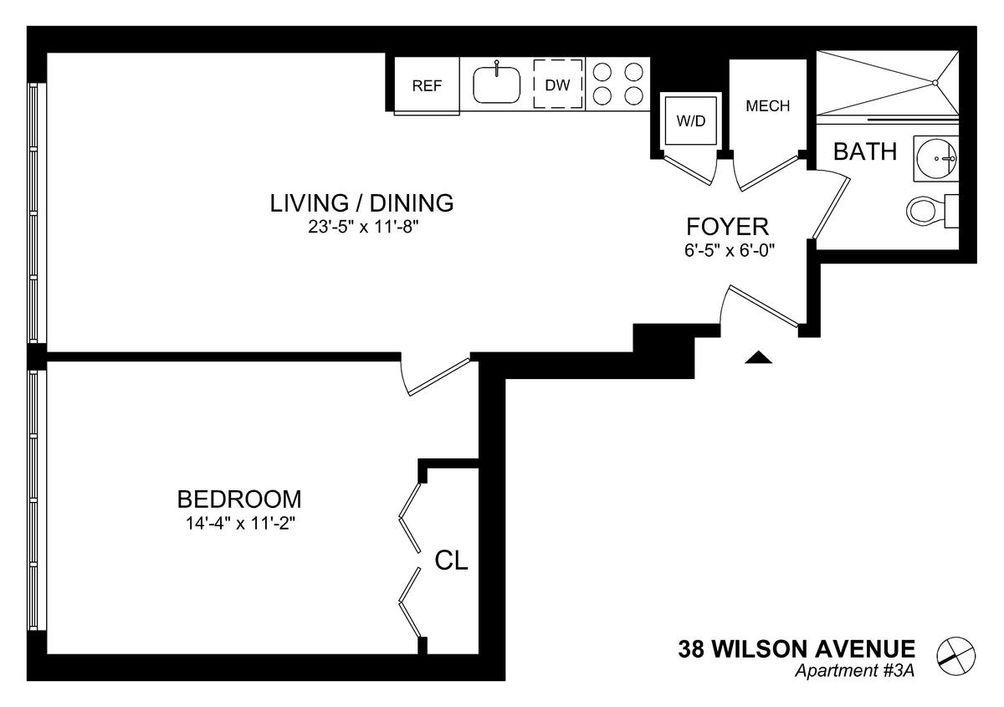 38 Wilson Avenue #3A floor plan