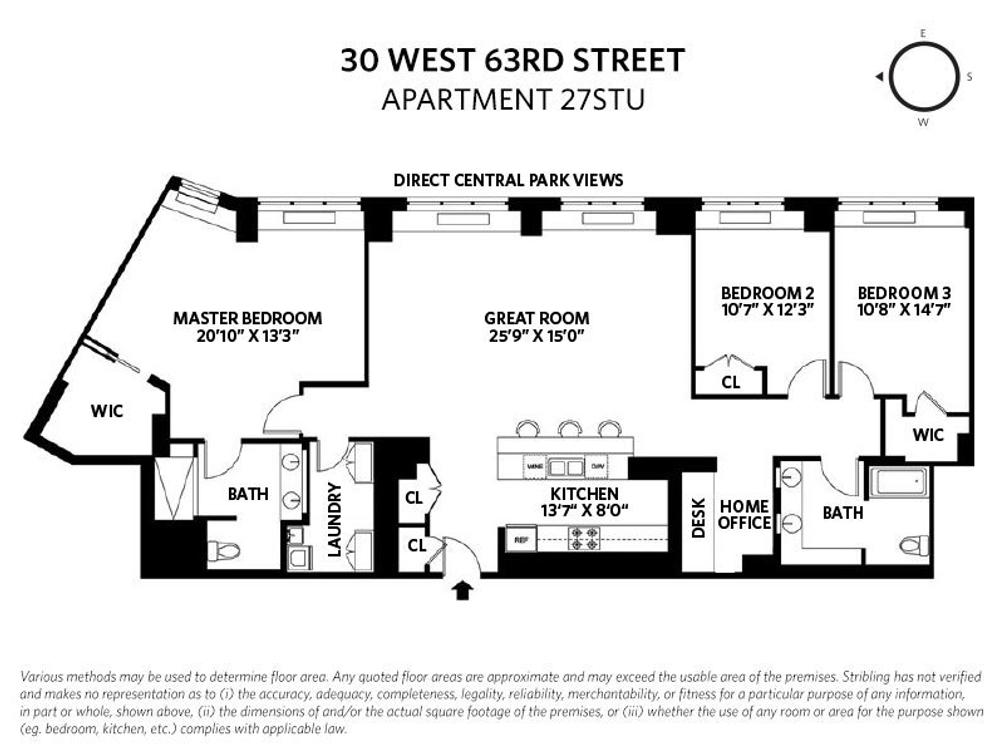 30 West 63rd Street #27STU floor plan