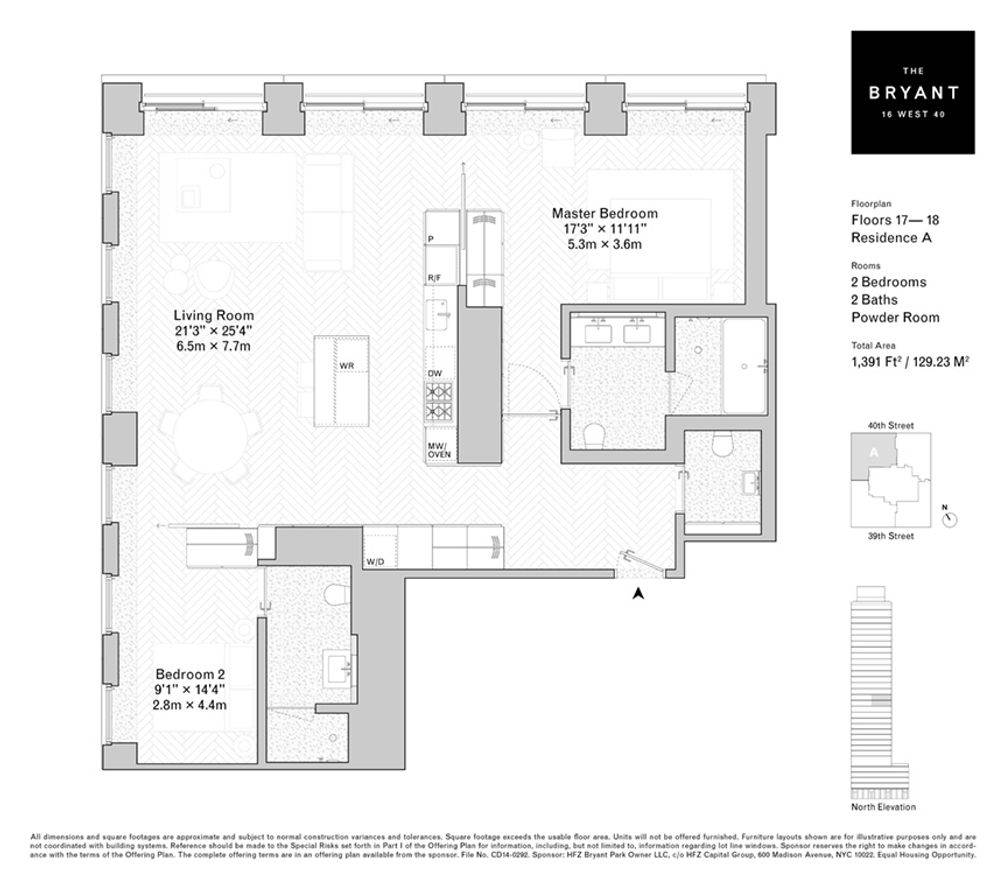 16 West 40th Street #17A floor plan