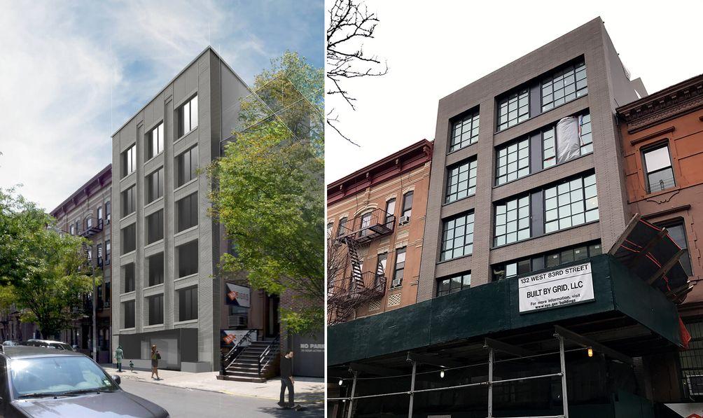 132 West 83rd Street exterior rendering