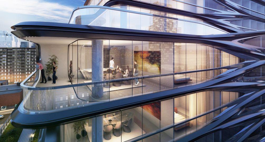 520 West 28th Street, a condo designed by Zaha Hadid