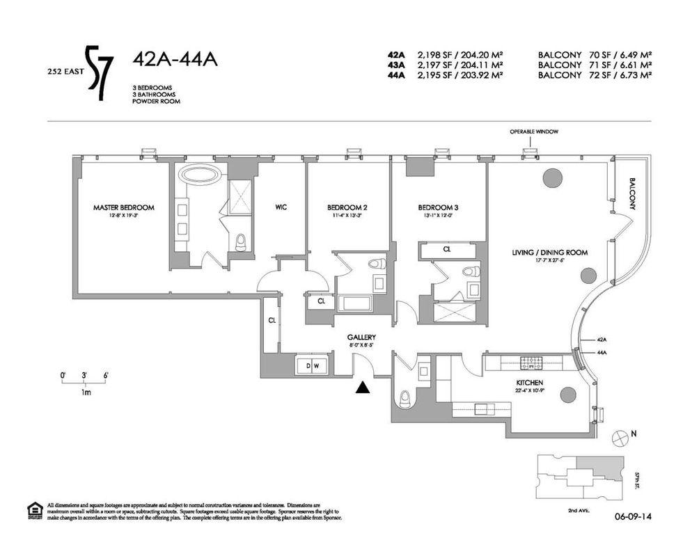 252 East 57th Street #43A floor plan