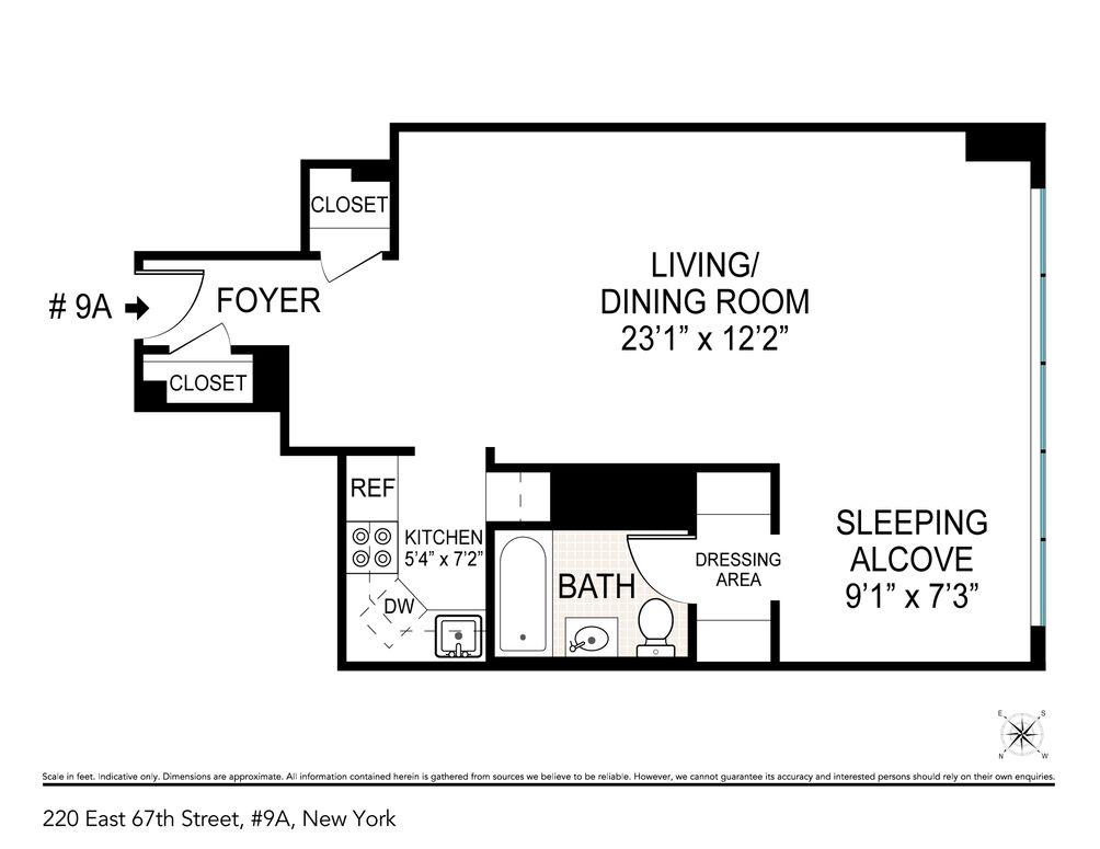 220 East 67th Street #9A floor plan