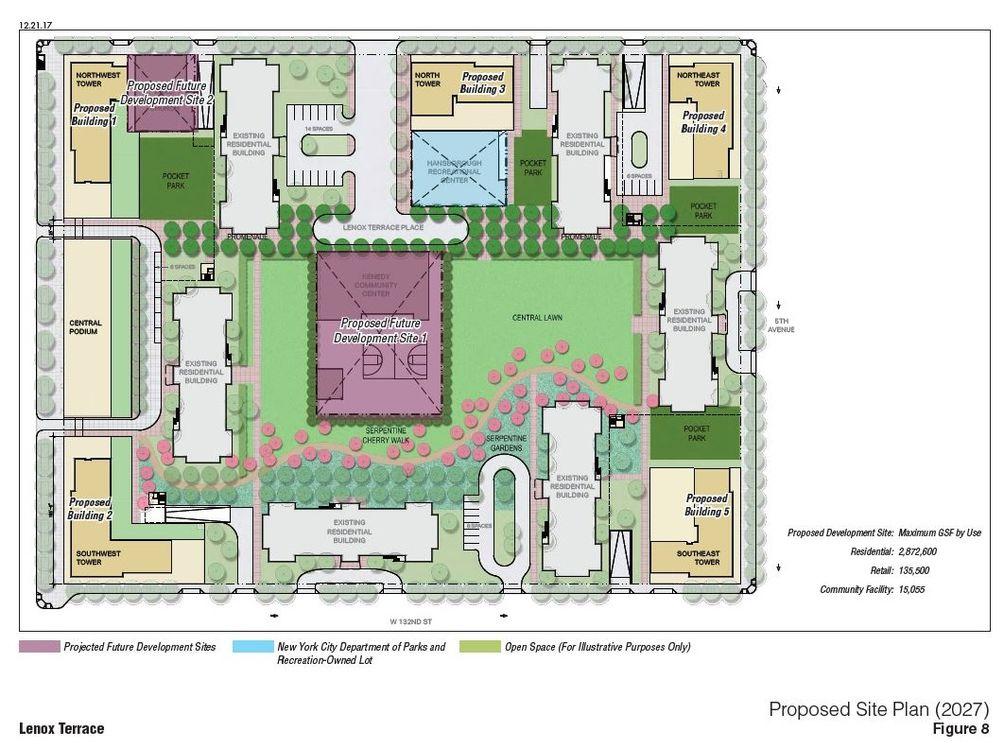 Lenox Terrace site plan