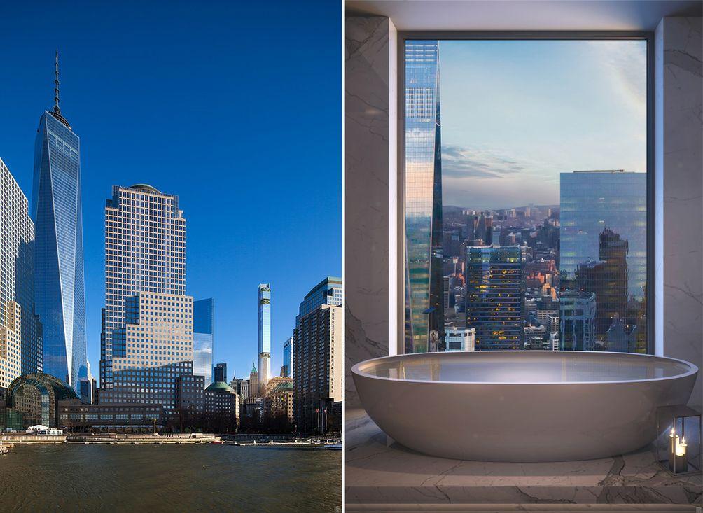 NYC skyscrapers, NYC condos, New York apartments, Manhattan skyscrapers