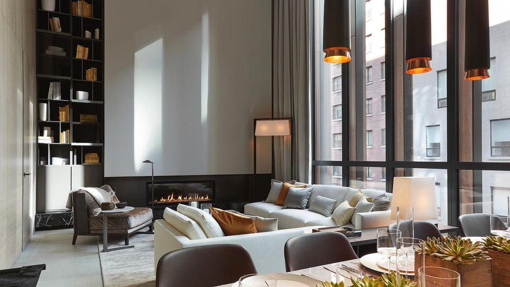 Soori High Line, SCDA Architects, interiors, model apartment, living room soori high line, Soo K. Chan