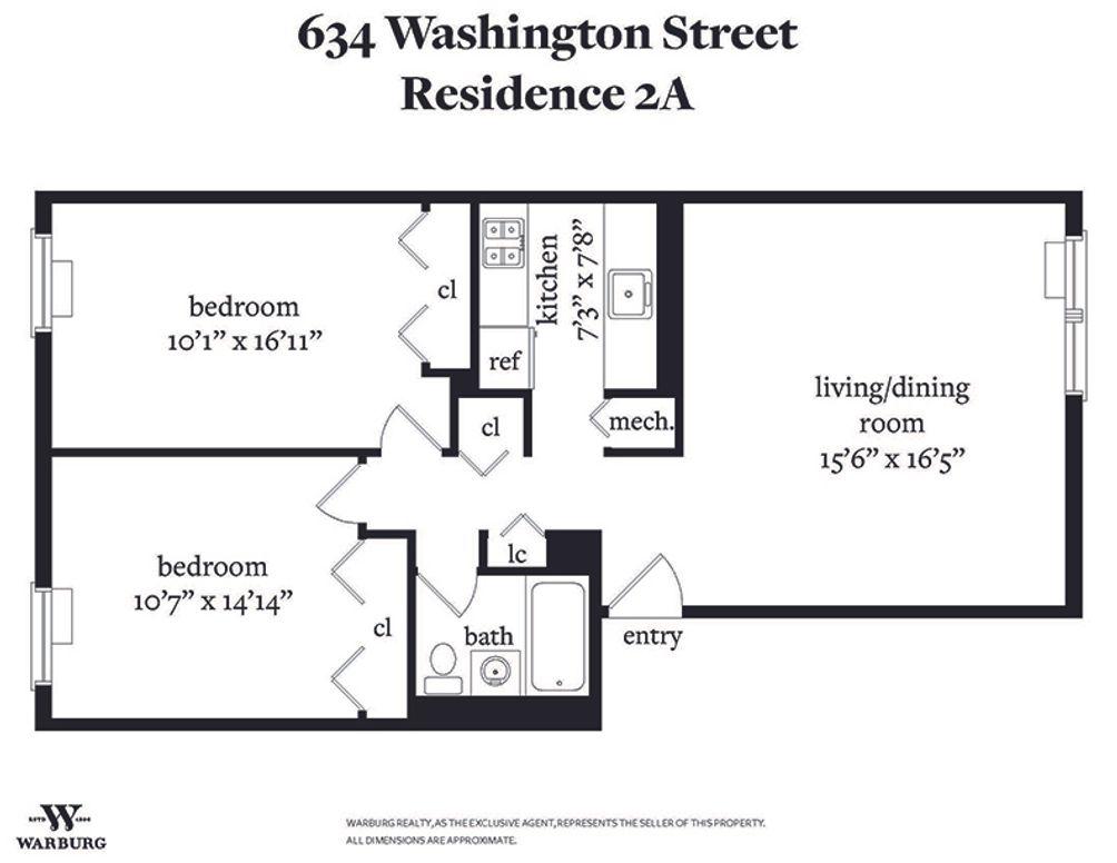 634 Washington Street #2A floor plan