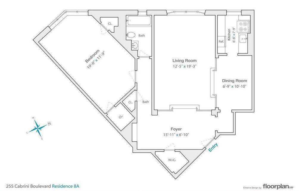 255 Cabrini Boulevard #8A floor plan