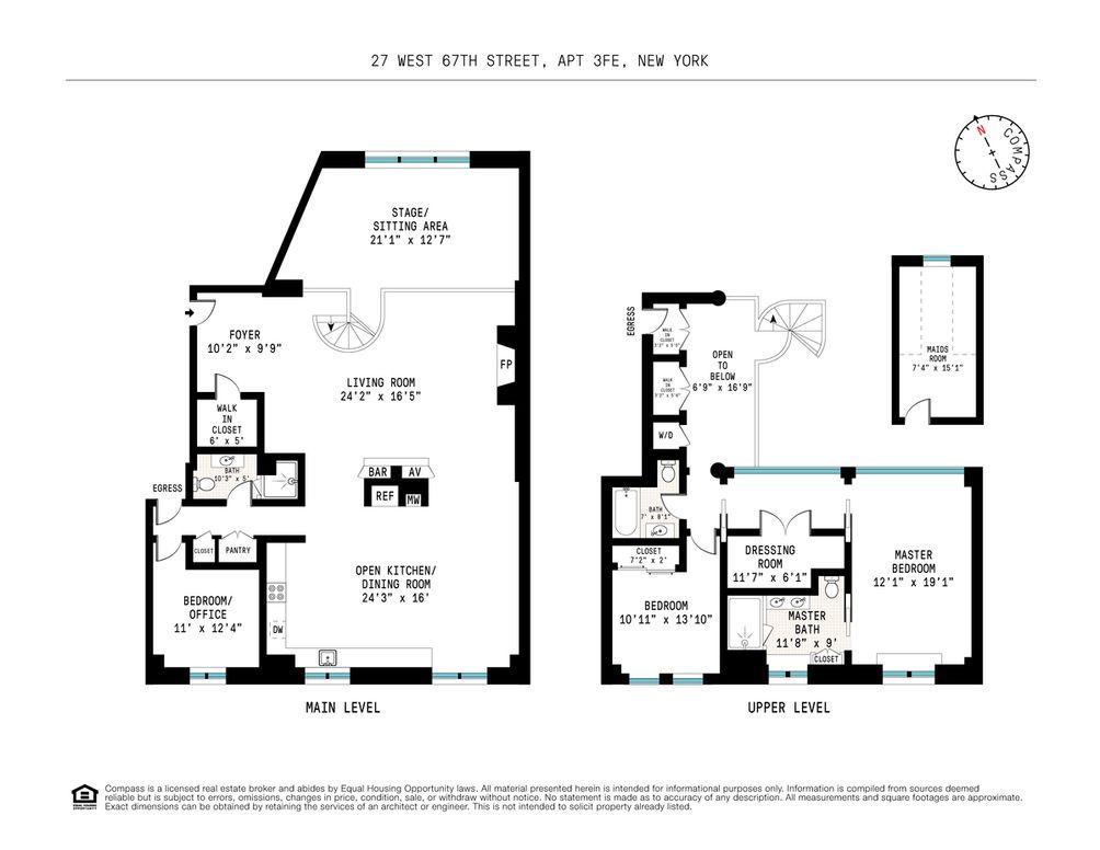 27 West 67th Street #3FE floor plan