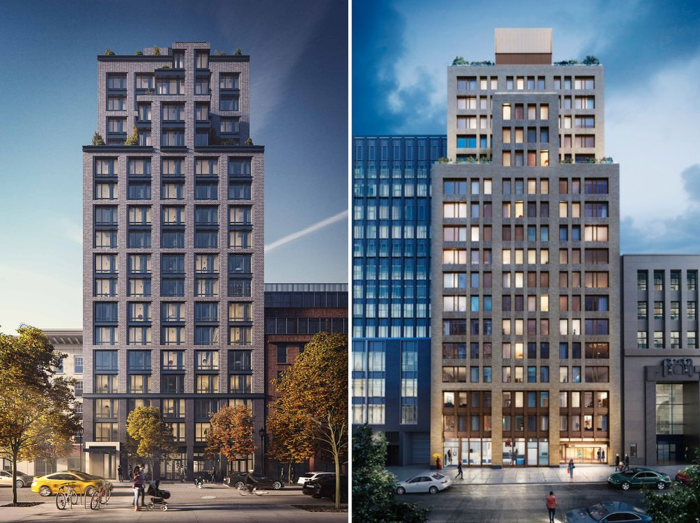 Renderings of Brooklyn's 153 Remsen Street and Montague Pierrepont Apartments