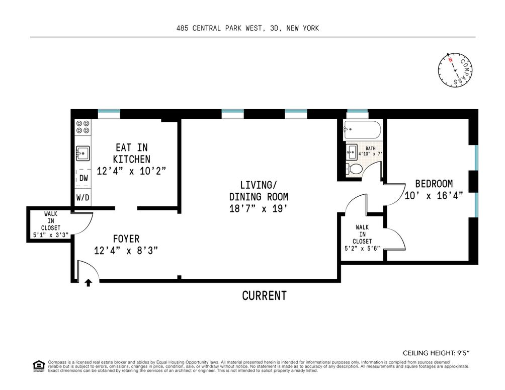 485 Central Park West #3D floor plan