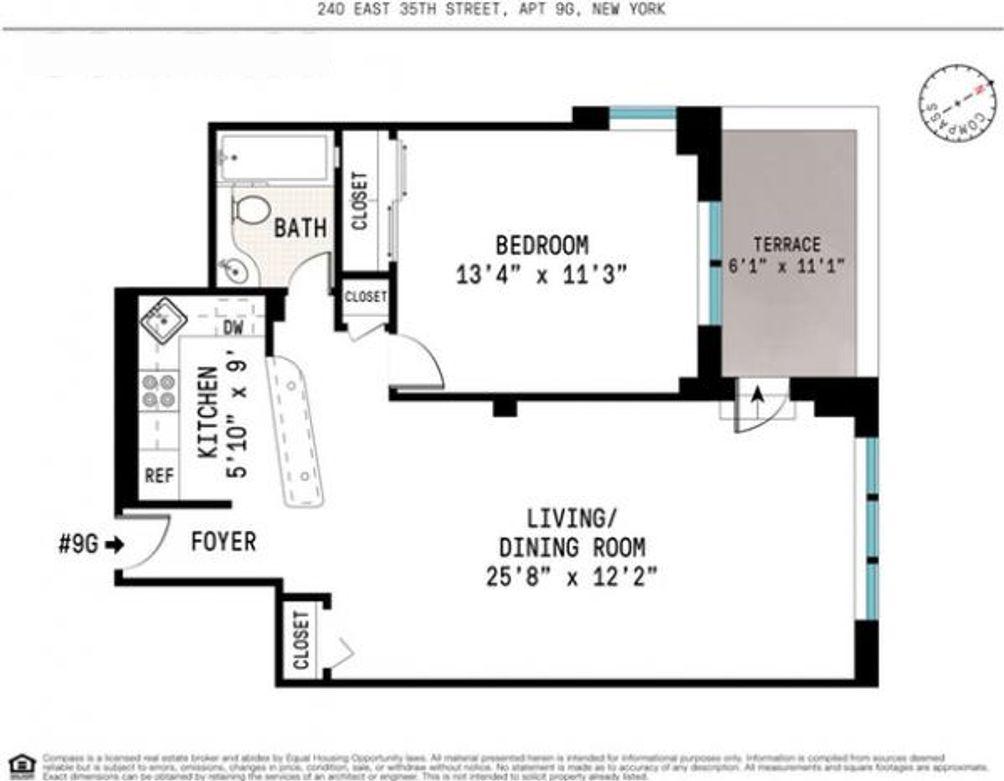 240 East 35th Street #9G floor plan