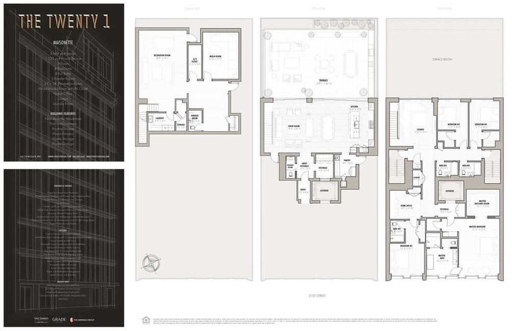 117 West 21st Street #TH floor plan