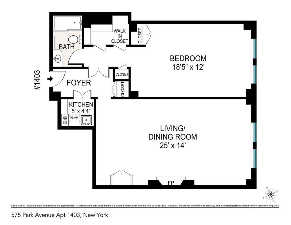 575 Park Avenue #1403 floor plan