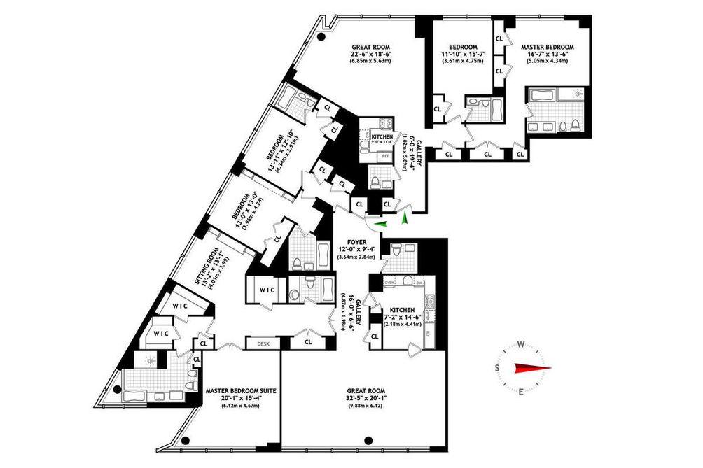 80 Columbus Circle #75C floor plan