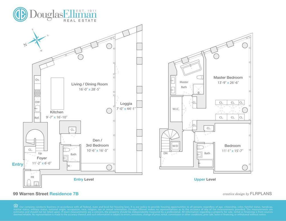 101 Warren Street #7B floor plan