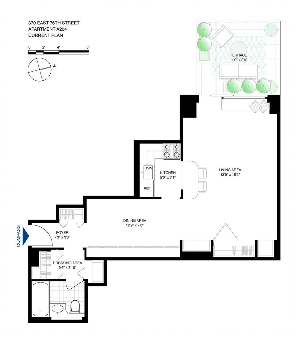 370 East 76th Street #A204 floor plan
