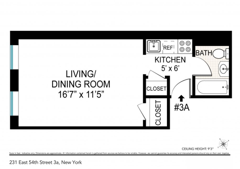 231 East 54th Street #3A floor plan