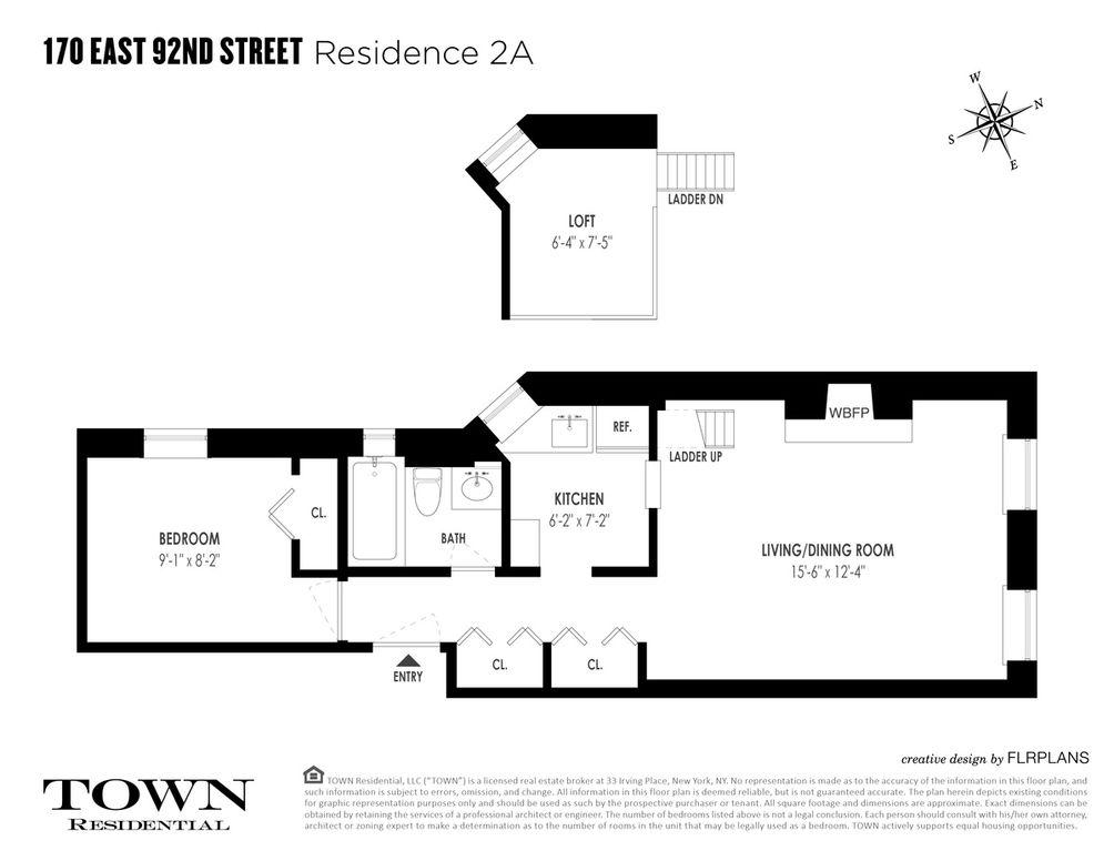 170 East 92nd Street #2A floor plan