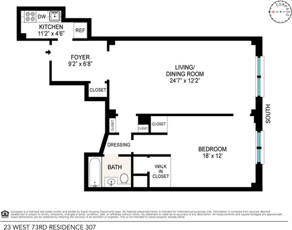 23 West 73rd Street #307 floor plan