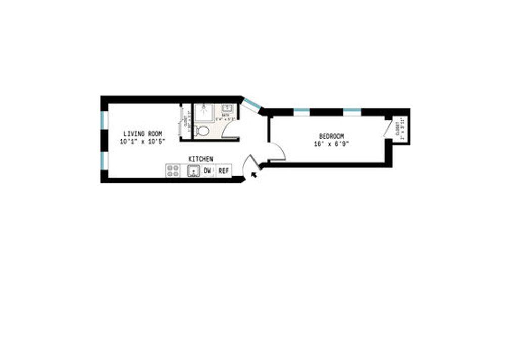 206 East 7th Street #6 floor plan