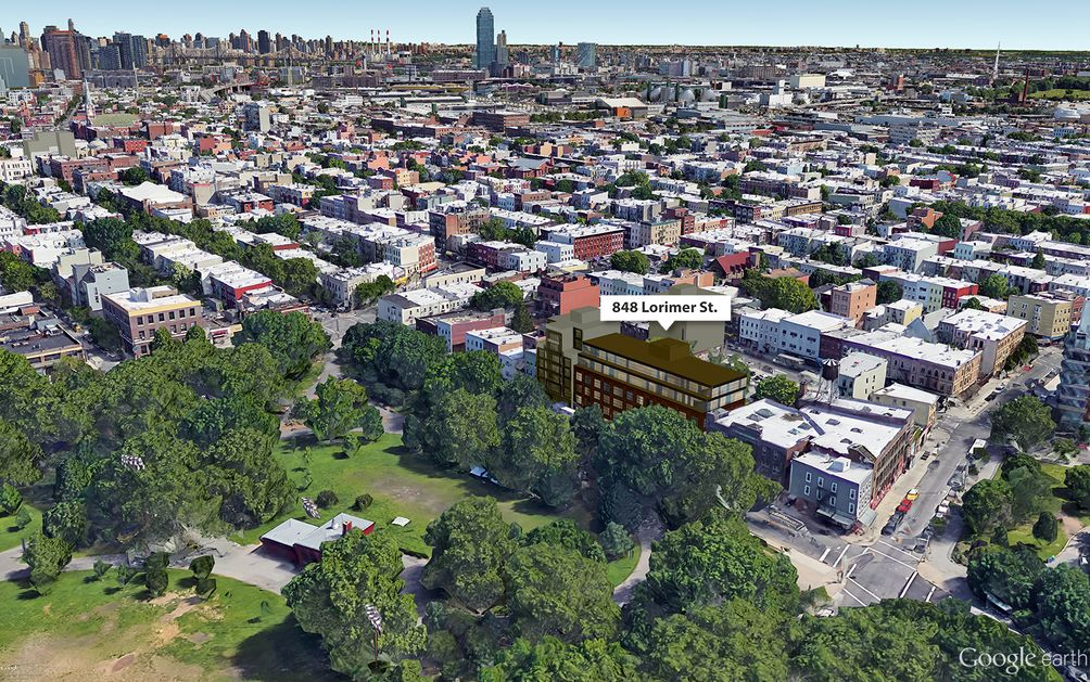 848 Lorimer Street Aerial View