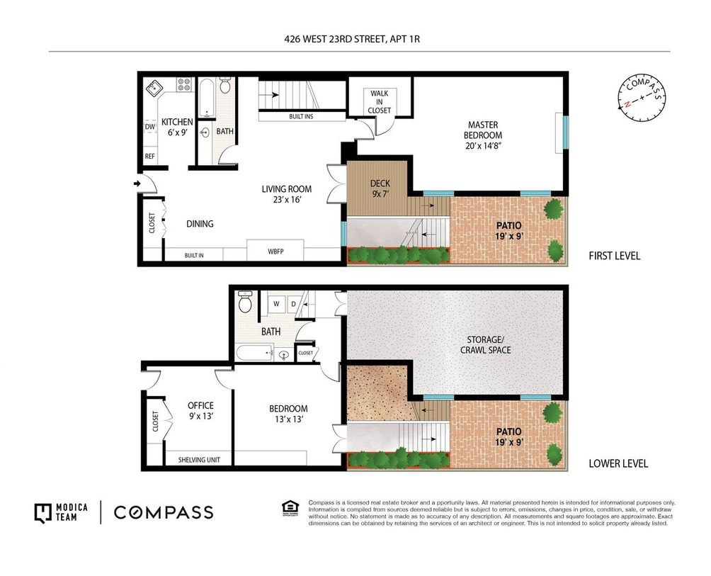 426 West 23rd Street #1R floor plan