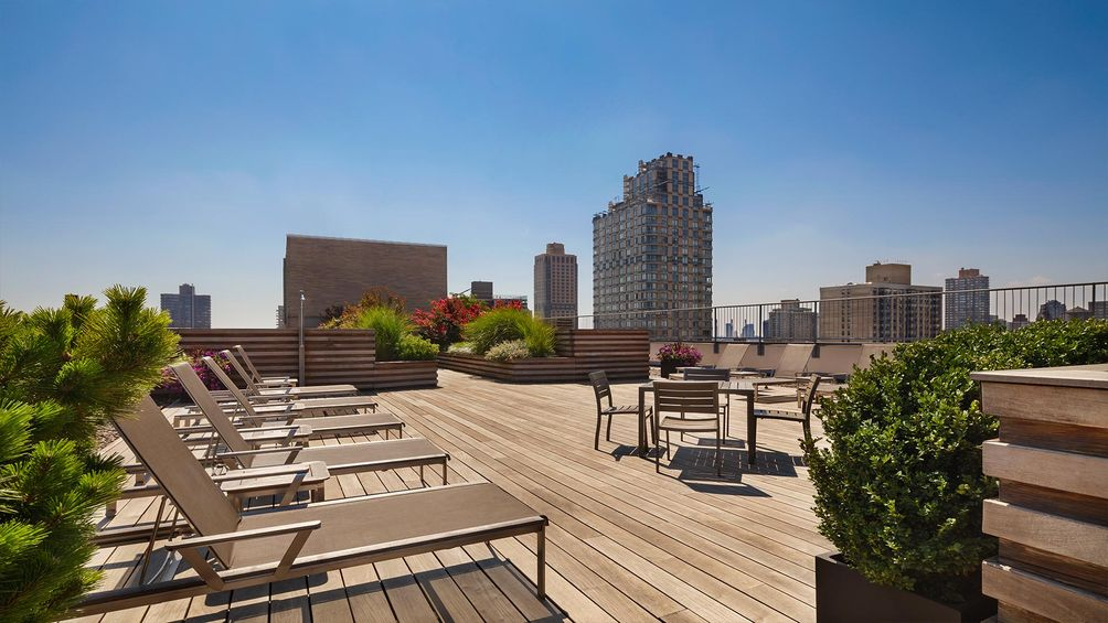 Roof deck atop The Ventura, 240 East 86th Street.
