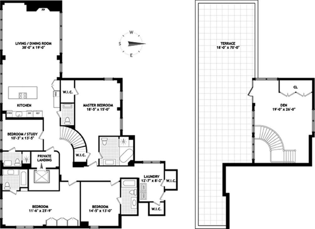 43 West 64th Street #PH14A floor plan