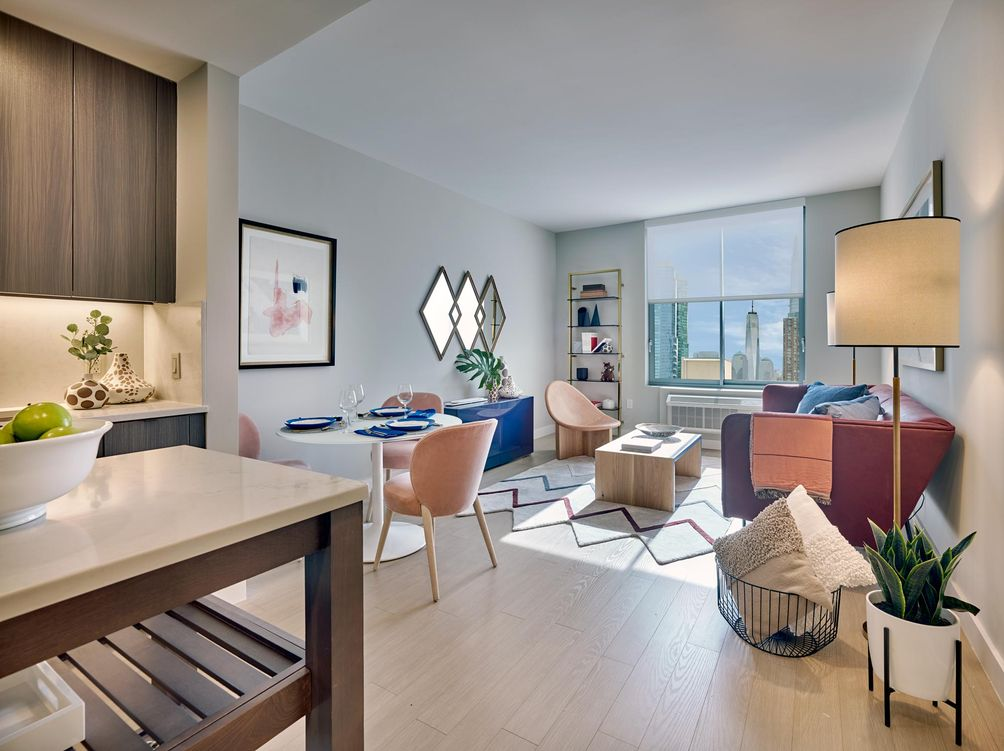 Model residence at Quinn in Paulus Hook, Jersey City