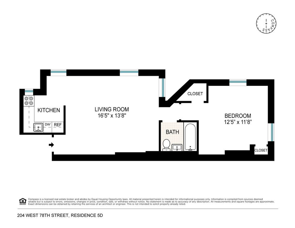 204 West 78th Street #5D floor plan