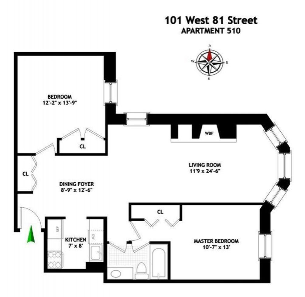 101 West 81st Street #510 floor plan