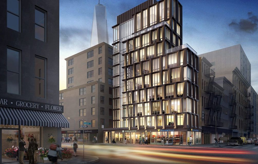 First look at greystone 39 s mixed use tribeca condo for Apartments in tribeca nyc