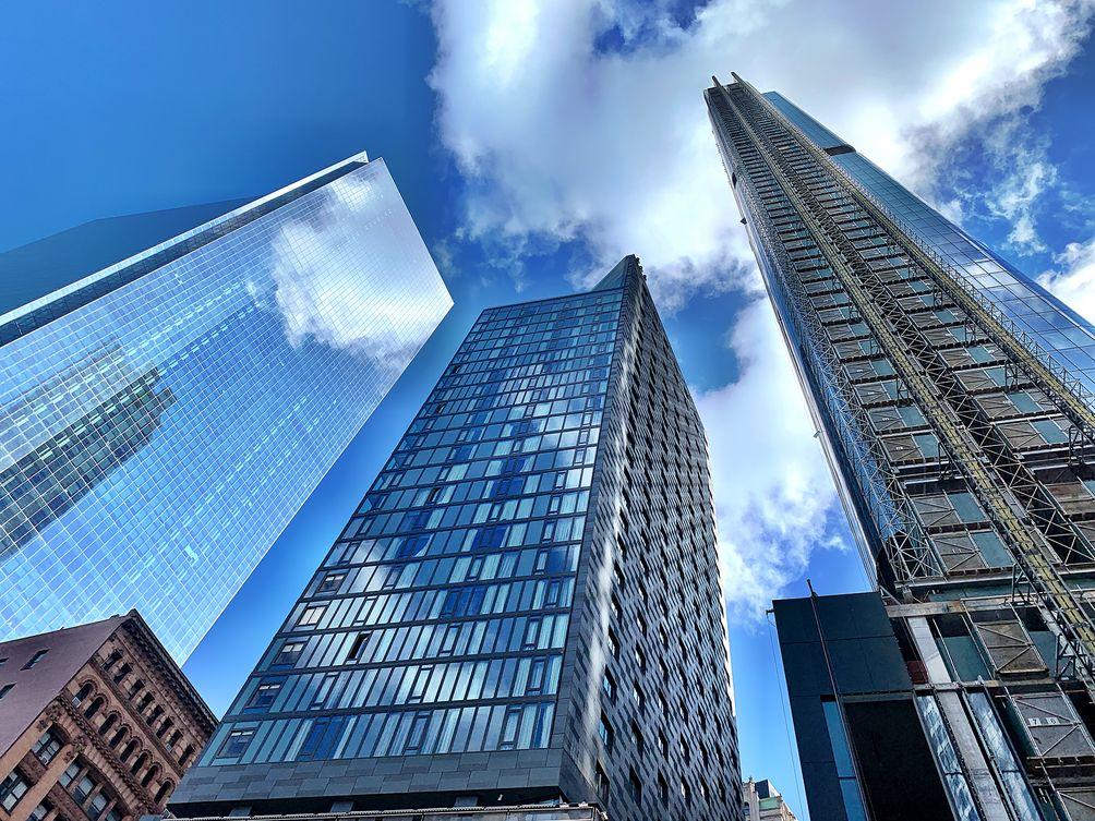 NYC skyline skyscrapers