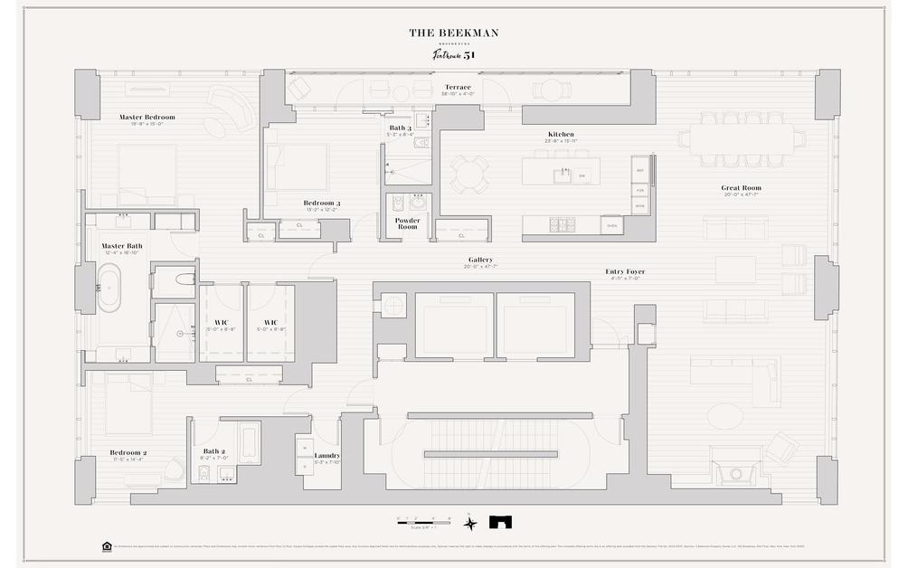 5 Beekman Street #PH51 floor plan