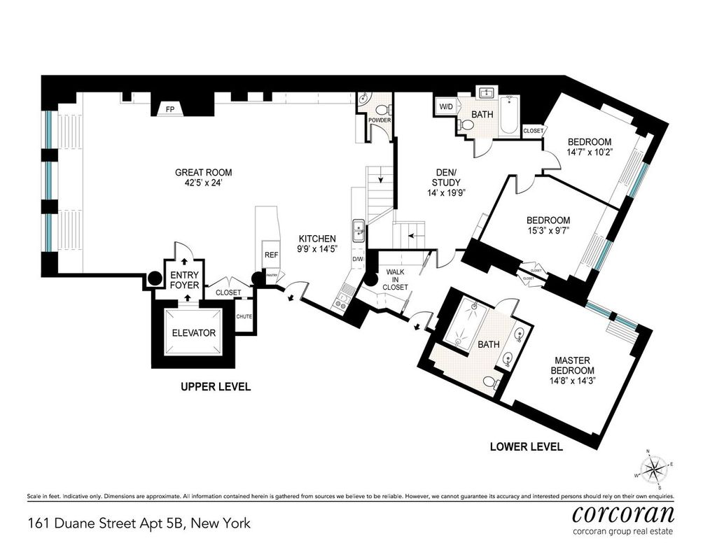 161 Duane Street #5B floor plan
