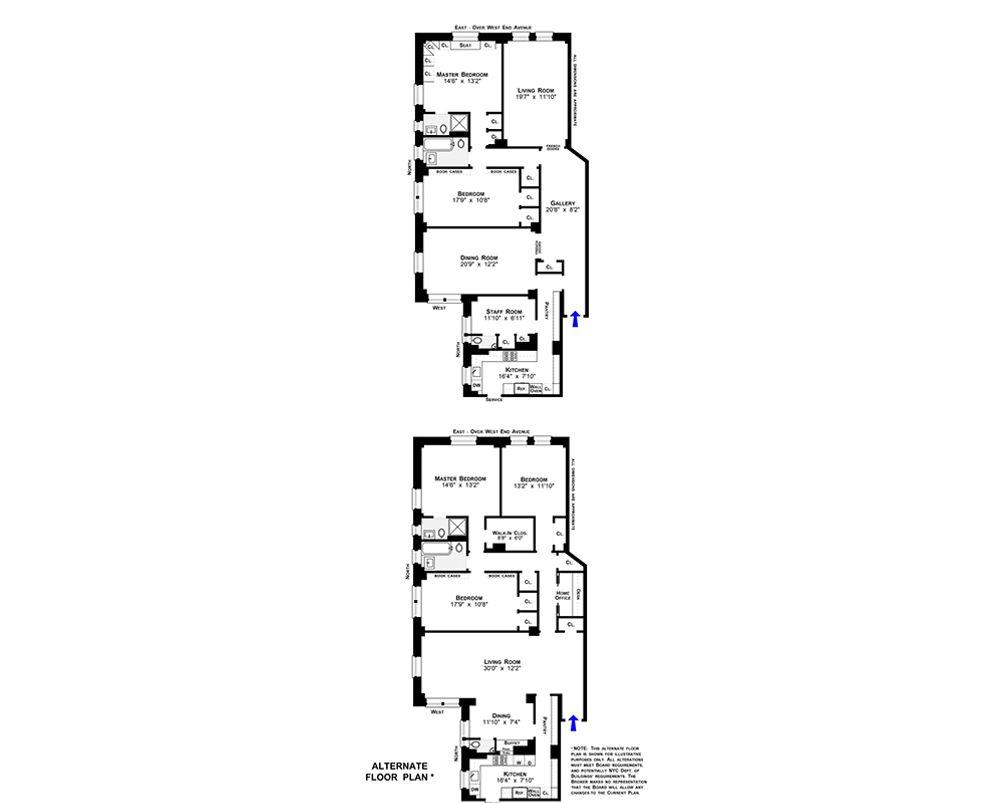 771 West End Avenue #2D floor plan