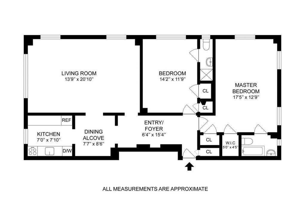 227 East 57th Street #14G floor plan