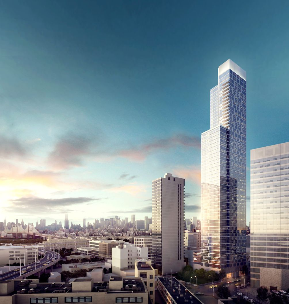 Rendering of Tower 28 in Long Island City