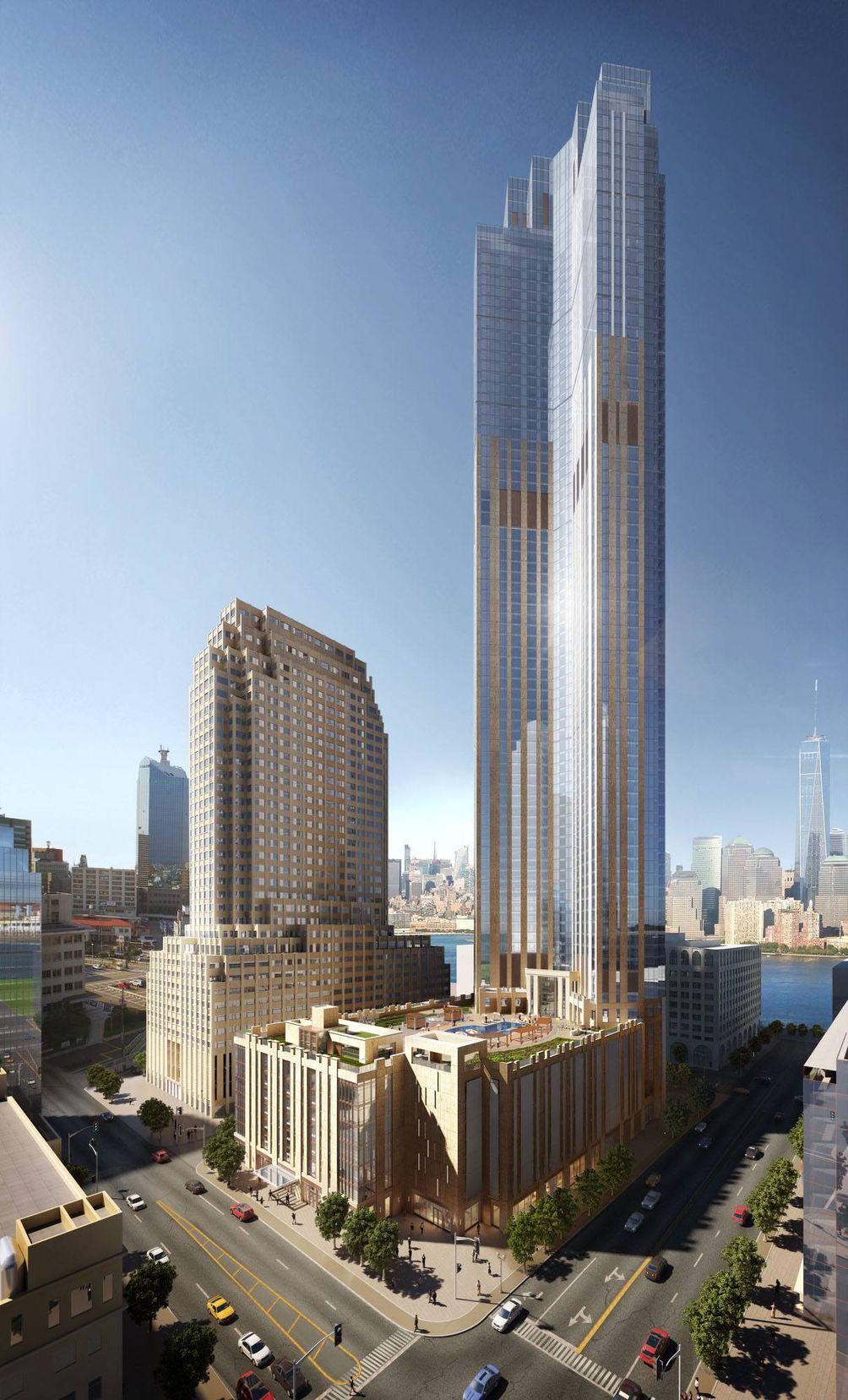 99 Hudson Street exterior rendering