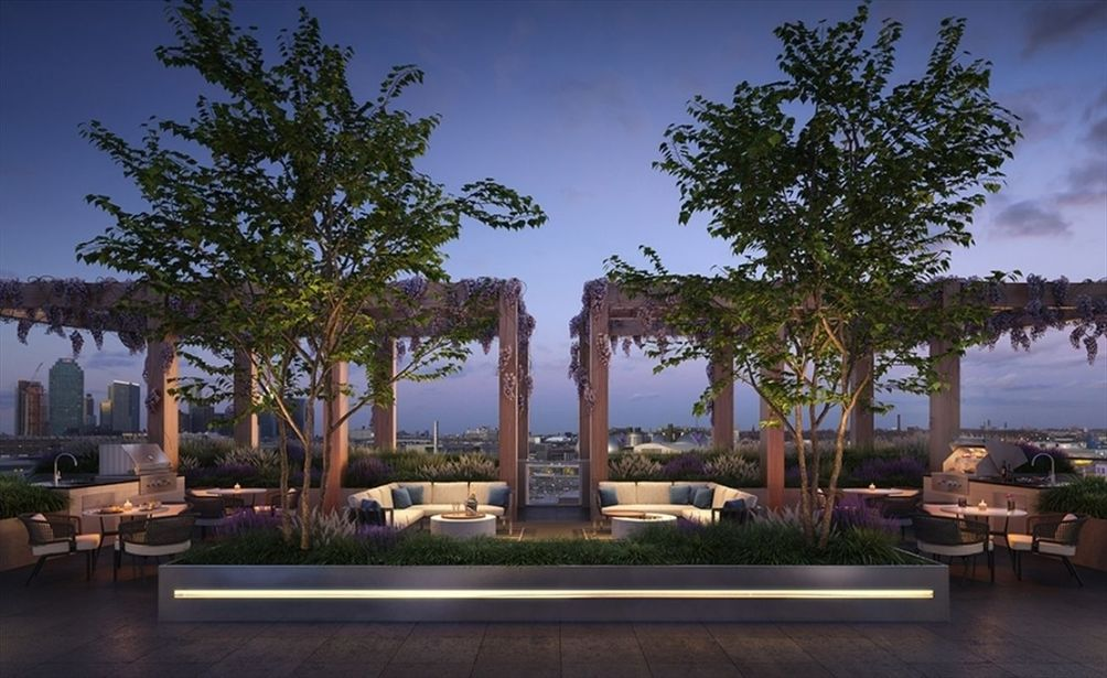 Rendering of Otto's rooftop lounge